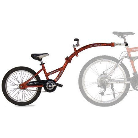 WeeRide Pro-Pilot Tandem Bike Trailer Unisex (Red)