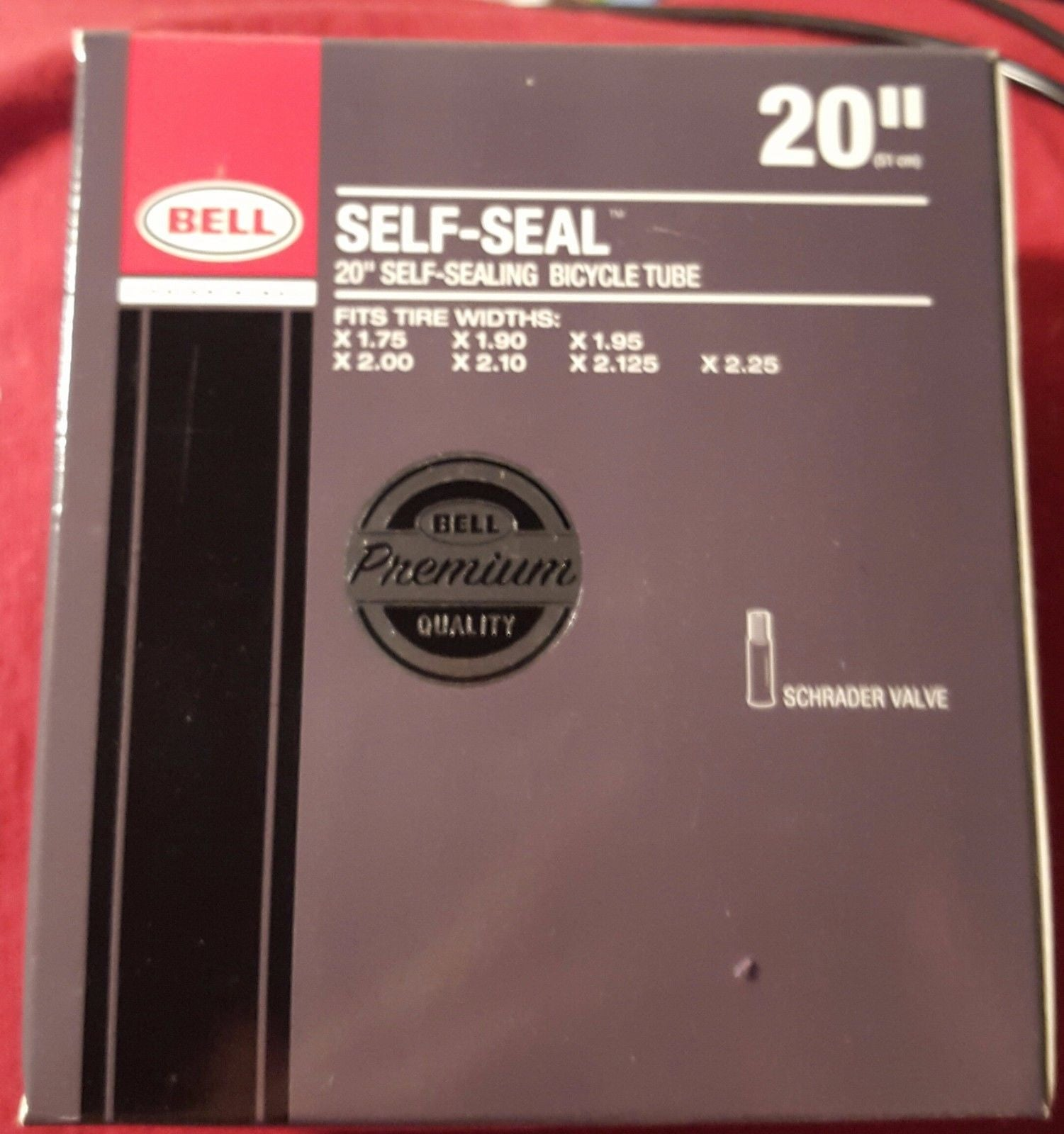 Bell Self Sealing 20''x1.75-2.25'' Schrader Valve Tube