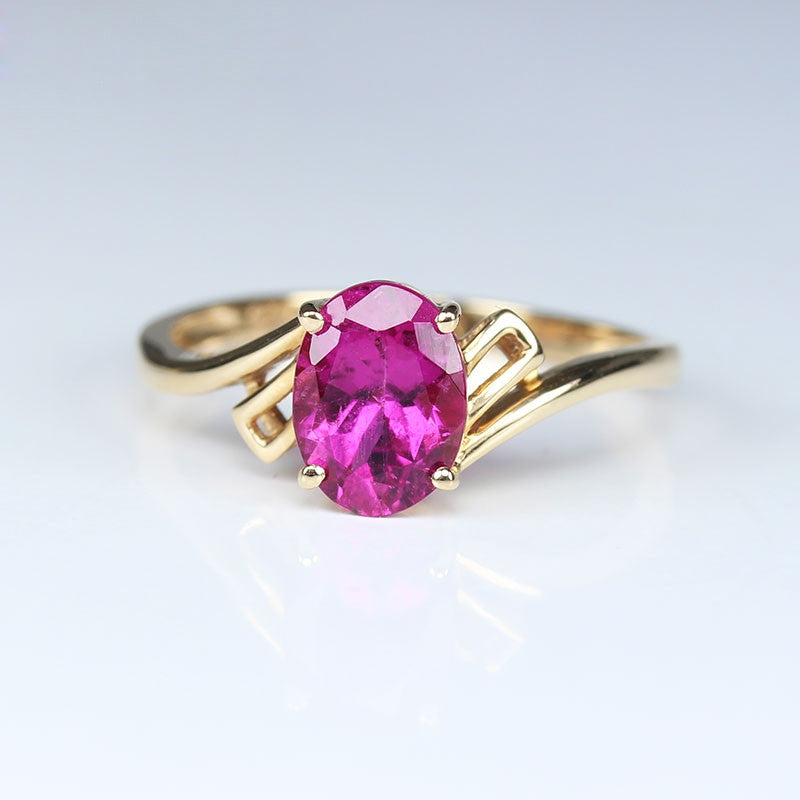 Tourmaline With 18K White Gold Ring
