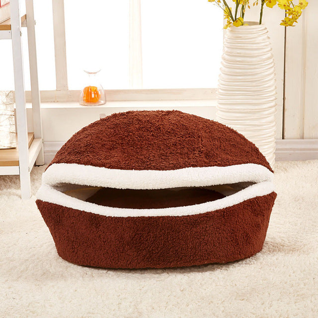 Hamburger Cat Bed House
