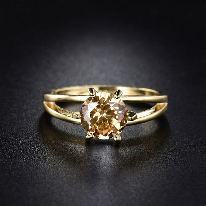 Champagne Gemstone Ring