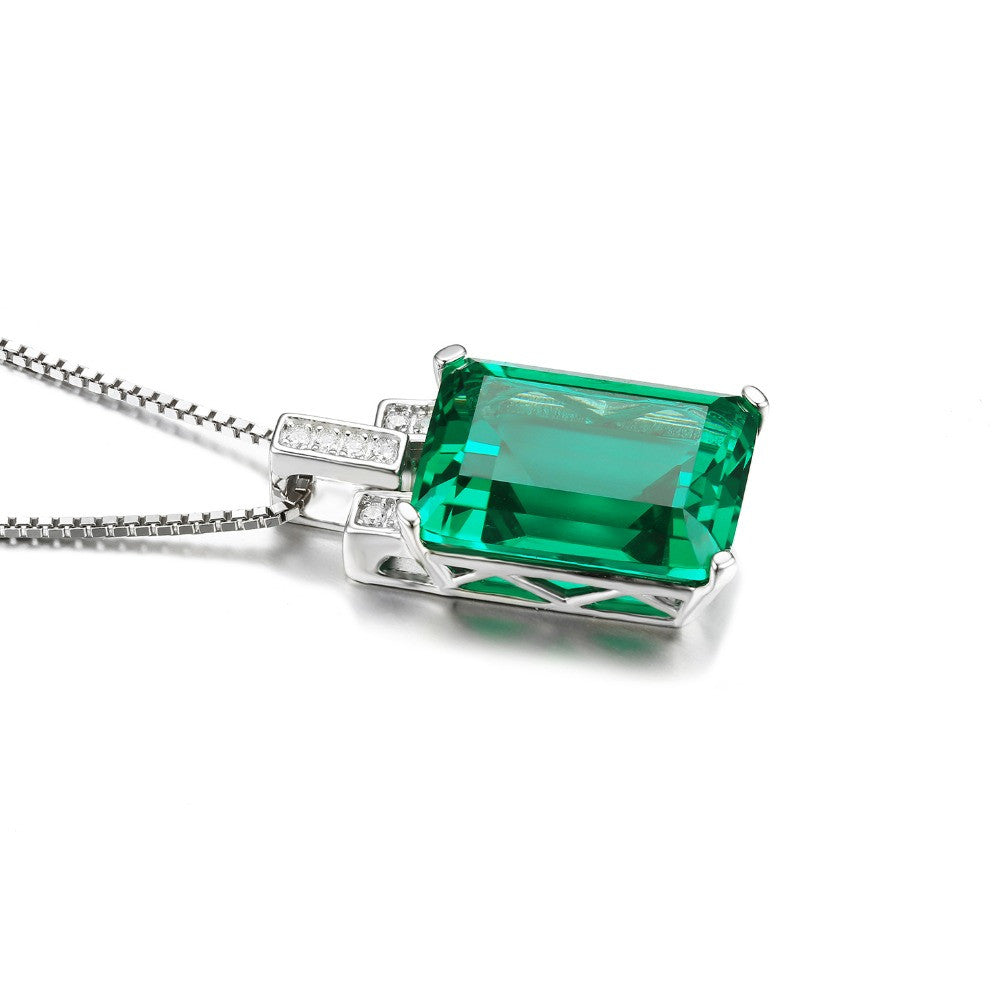 Radiant  Emerald Cocktail Necklace