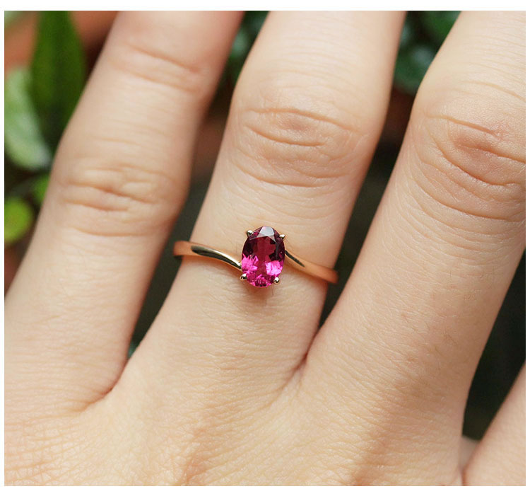 Tourmaline With 18K Rose Gold Ring