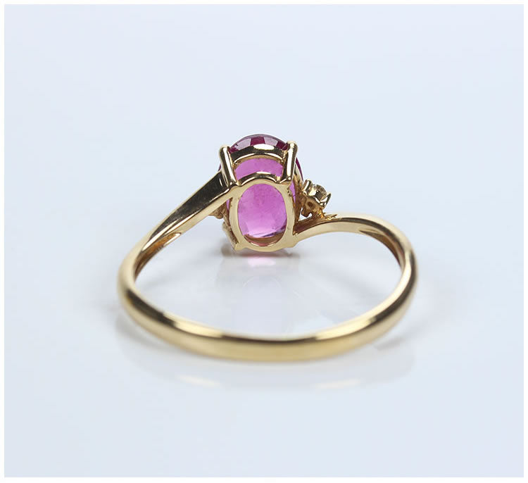 Tourmaline With D Flawless Diamonds 18K Rose Gold Ring