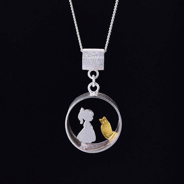 Handmade Meeting Love With Cat Pendant without Necklace