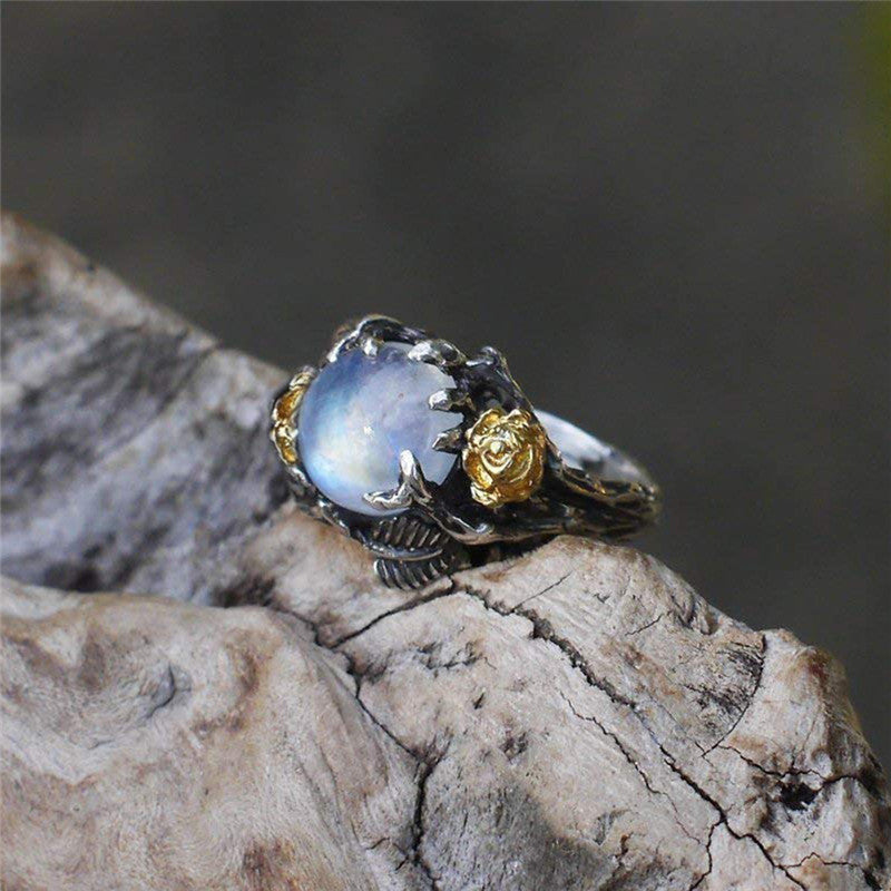 Round Cut Moonstone Fairytail Ring