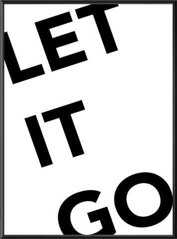 LET IT GO PLAKAT