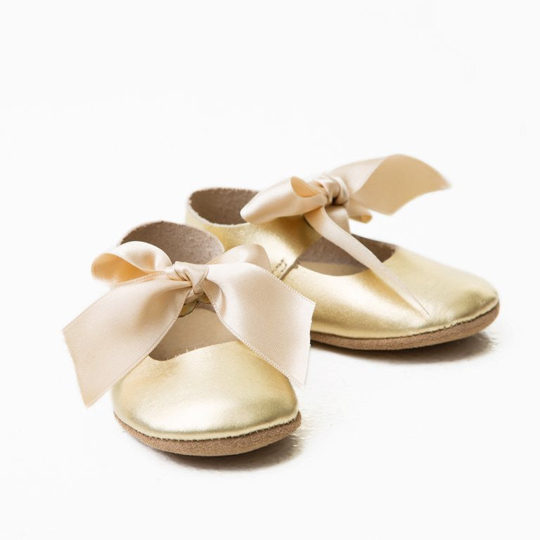 Mary Janes - Gold Metallic
