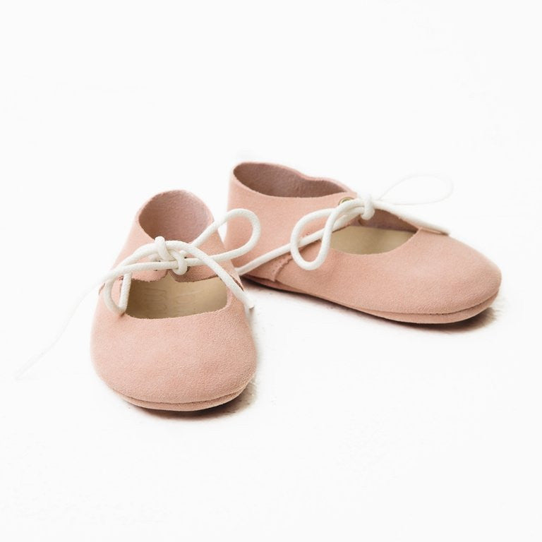 Mary Janes  -  Dusty Pink Suede