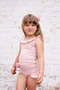 Dusty Pink Ruffle Singlet Top
