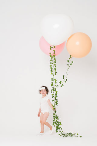 Tulle Collar Leotard - Milk White