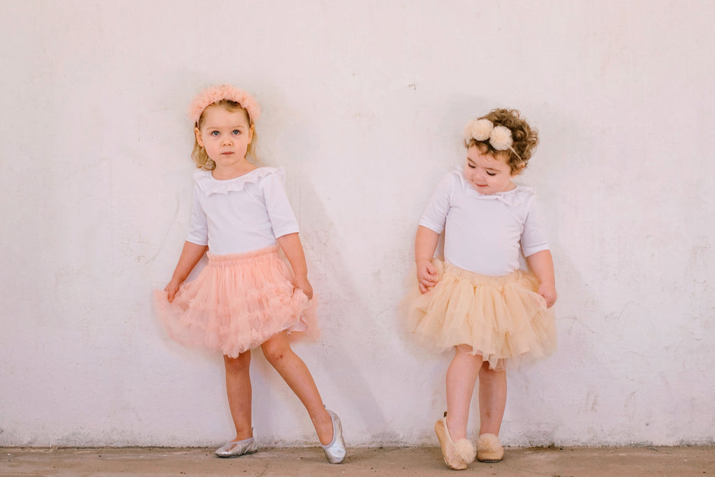 Maybel Ruffled Tutu Skirt  –  Tea Rose