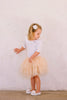 Tilly 3-Tier Tutu Skirt  -  Nude