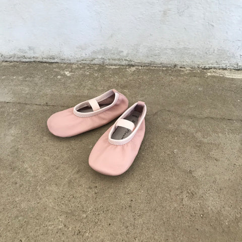 Powder Pink Elastic Ballet Shoes