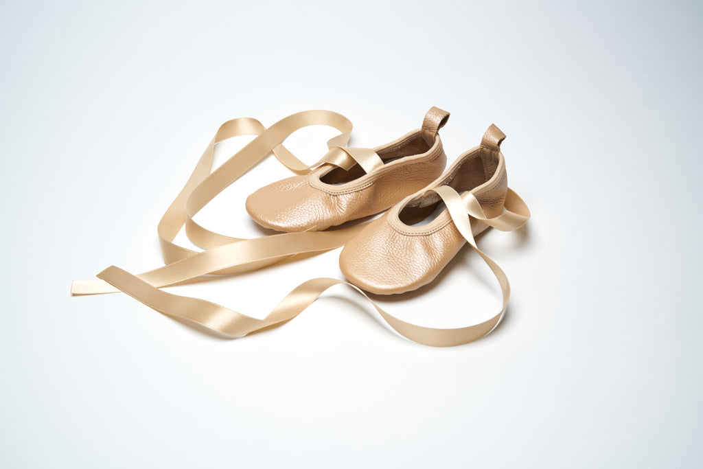 Dusk Pearl Ribbon Ballet Shoes