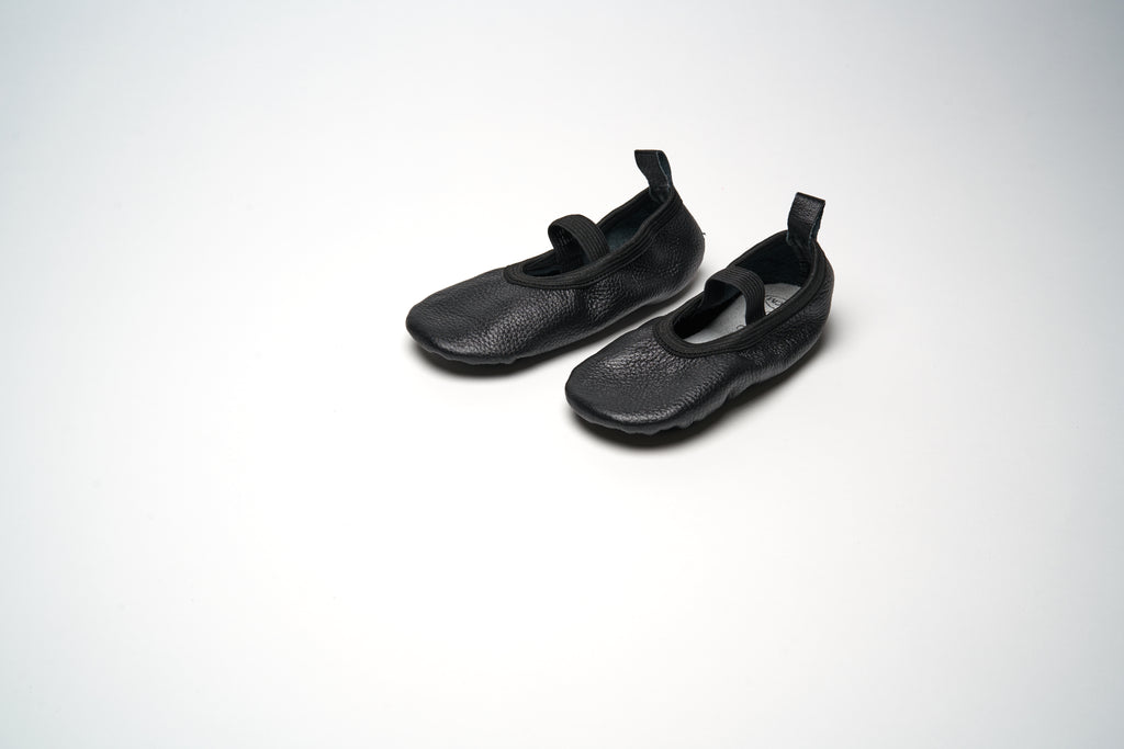 Black Elastic Ballet Shoes