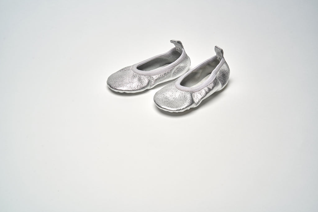 Silver Metallic Classic Ballet Shoes