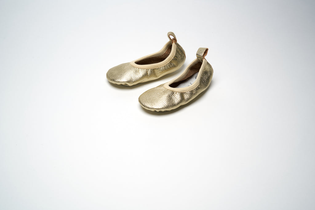 Gold Metallic Classic Ballet Shoes