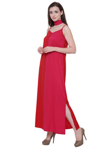Ava Two Toned Maxi Dress With Choker