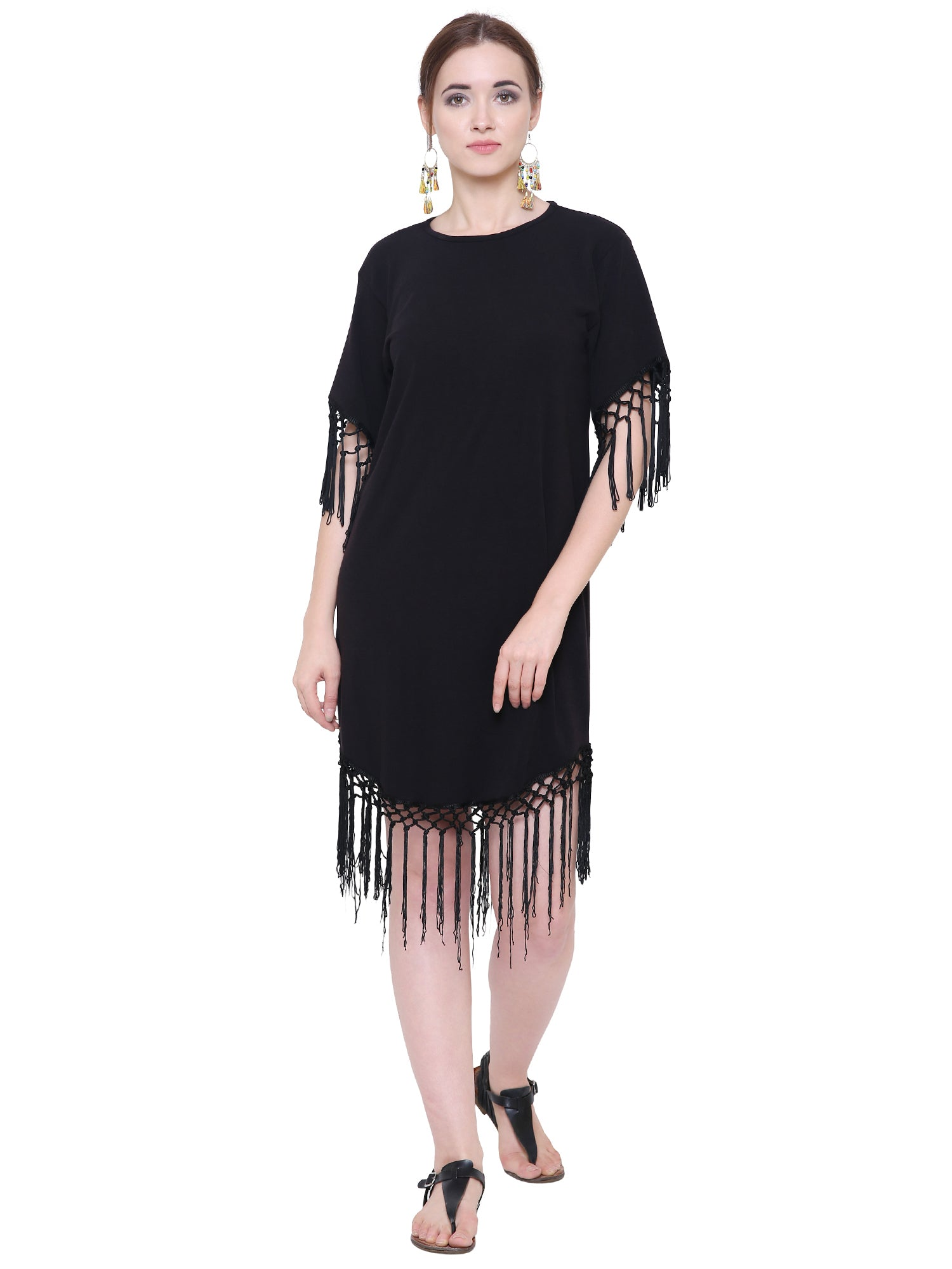 Black Boheme Fringe Dress