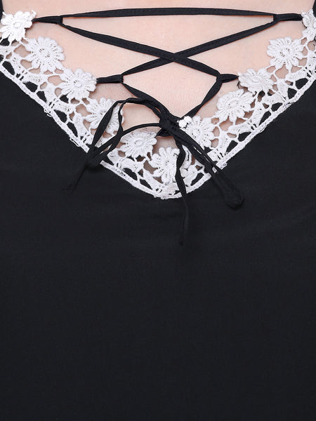 Monochrome Lace Summer Top
