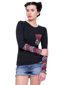 Hanna Aztec Patch Top