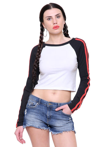 Lindsay Stripe Crop Top