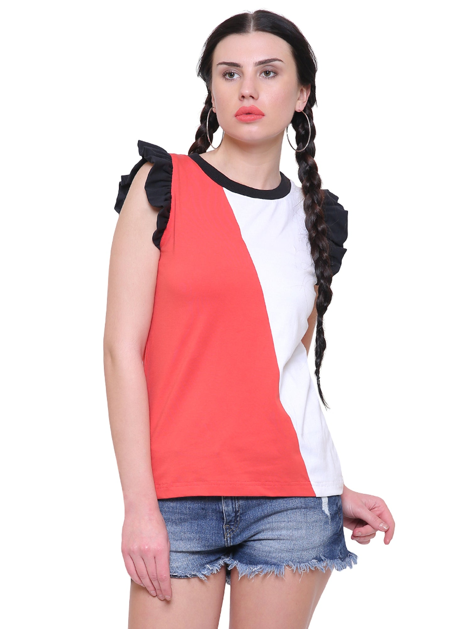 Tiffany Colour Block Top