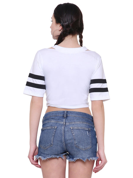 Liza White Crop top