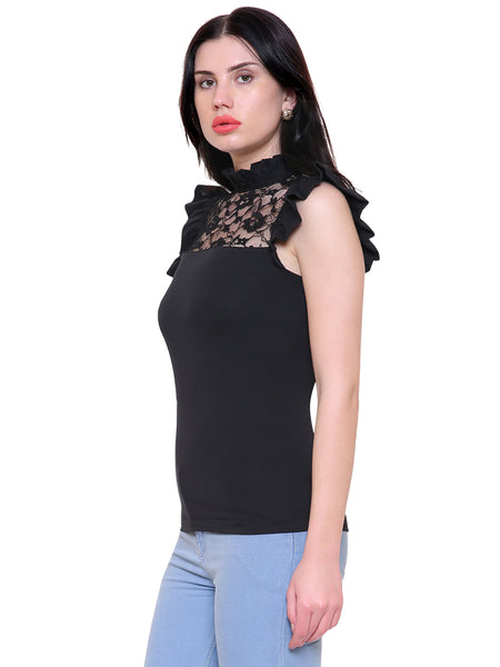 Candice Black Lace Top