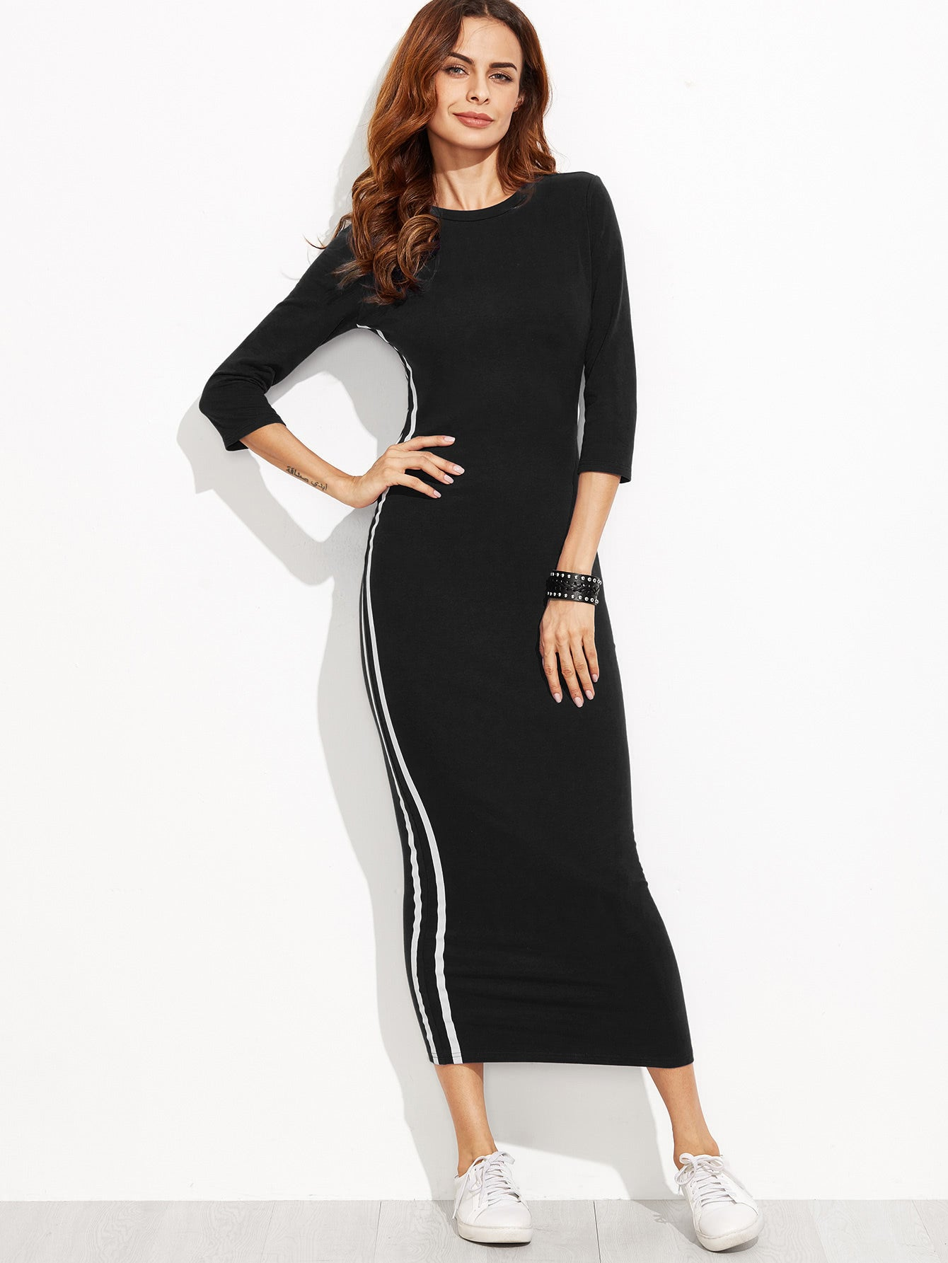 Svetlana Black Maxi Dress
