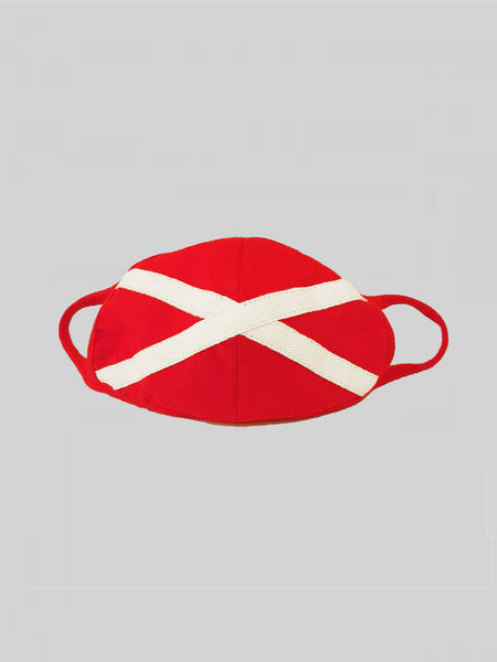 Minimalistic Red Unisex Social Distancing Mask (Set of 3)