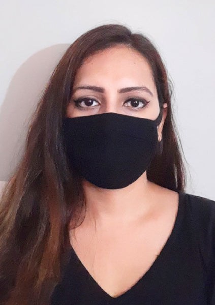 Black Unisex Social Distancing Masks (Set of 3)