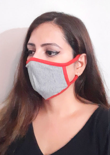 Set of 4 Cotton Solid Social Distancing Face Mask