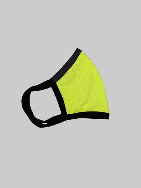 Neon Green With Contrast Black Loop Unisex Social Distancing Masks (Set of 3)