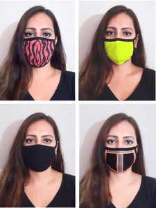 Set of 4 Marzeni Designer Social Distancing Face Mask