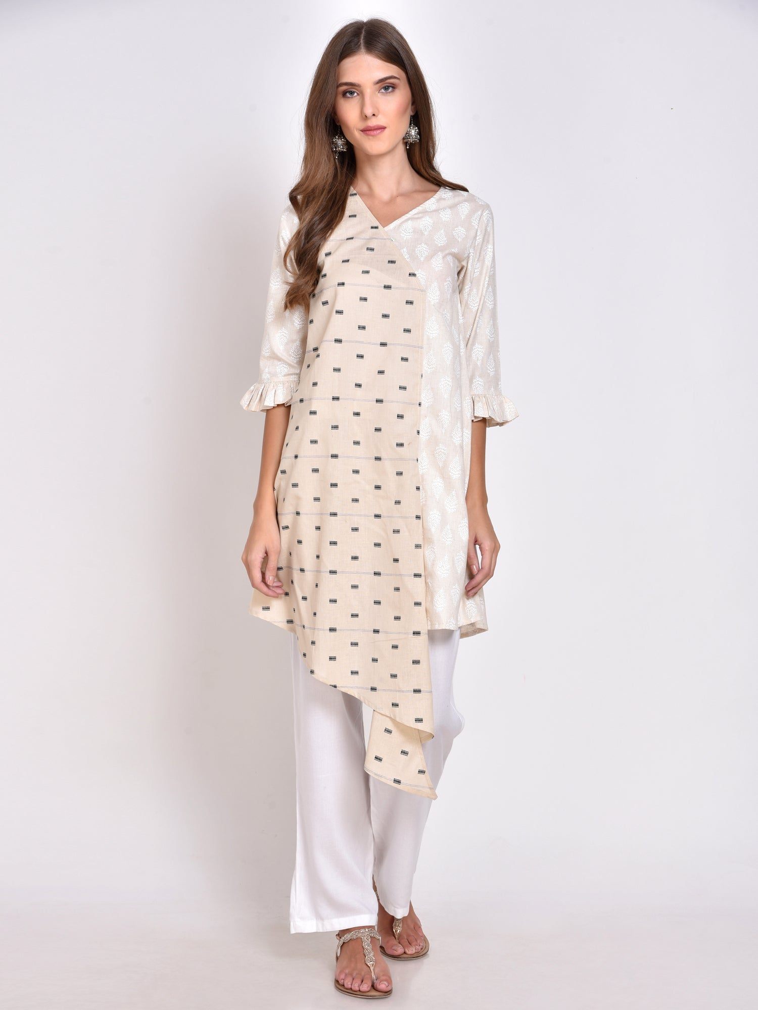 Printed High-Low Kurta