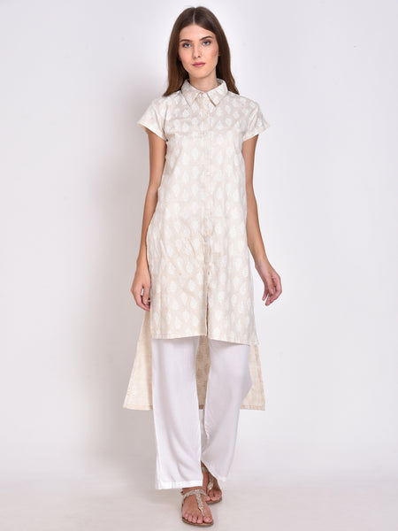 High Low Printed Kurta