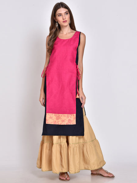 Color Block Layered Kurta