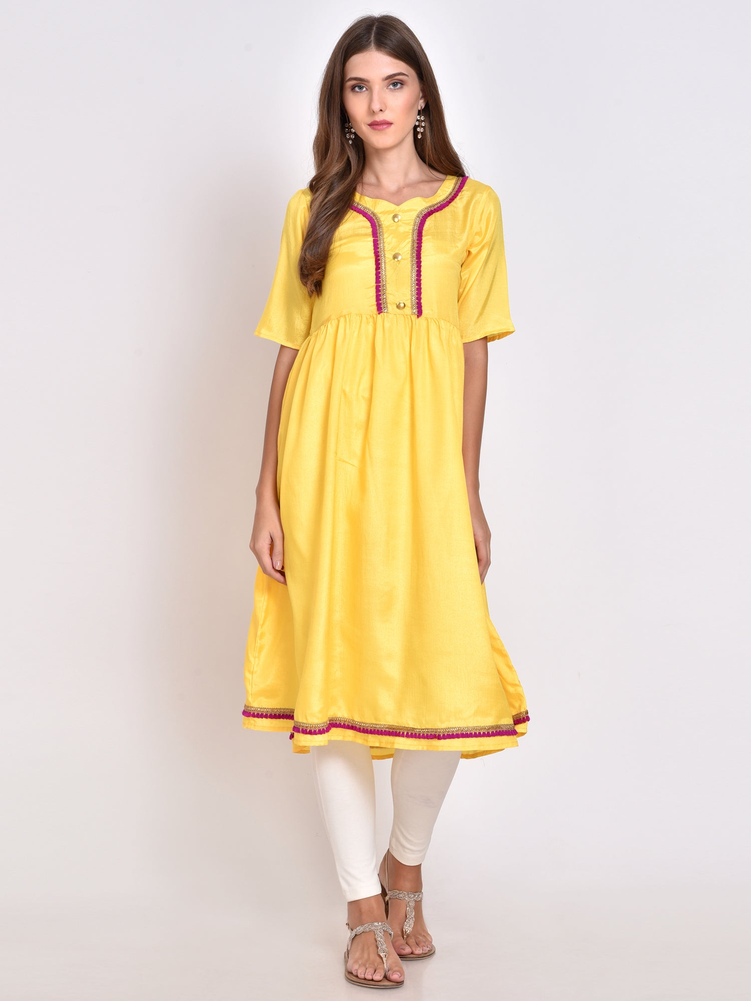 Solid Flared Kurta