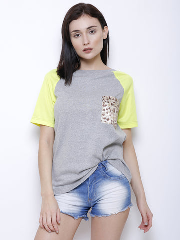 Leopard Patch Neon Top