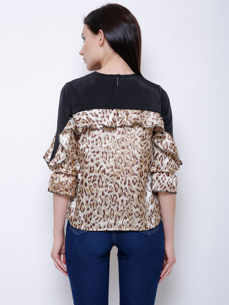 Corrine Leopard Print Top