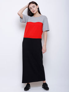 Nelly Colour Block Maxi Dress