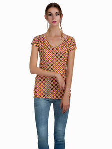 Multicolour Geometric Tunic