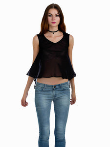 Sylvia Back Sleeveless Top