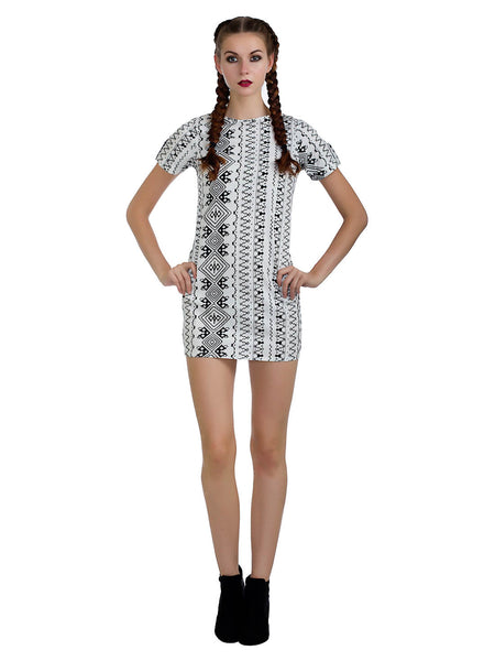 Tribal Monochrome Dress