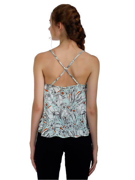 Hawaiian Noodle-Strap Printed Top