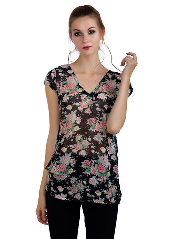 Dark Floral Strappy Tunic