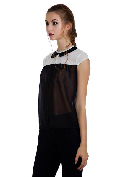 Monochrome Vintage Top