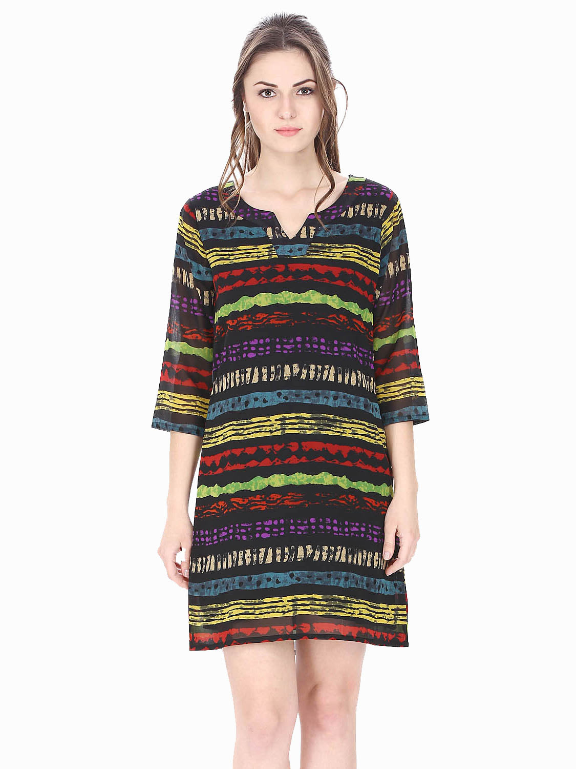 Into the Print A-line Dress
